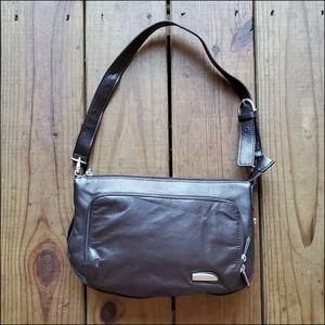 NWOT Travelon dark brown genuine leather purse